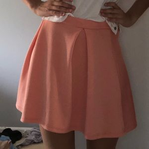 Charlotte Russe coral skirt
